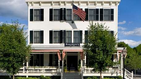 The Hotel Fauchere in Milford, Pennsylvania, features an
