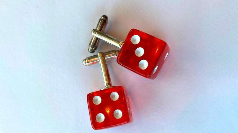 Red dice cufflinks; $25 at Wit & Whim