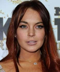 Lindsay Lohan arrives at the Mr. Pink Ginseng