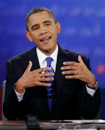 President Barack Obama speaks during the third presidential