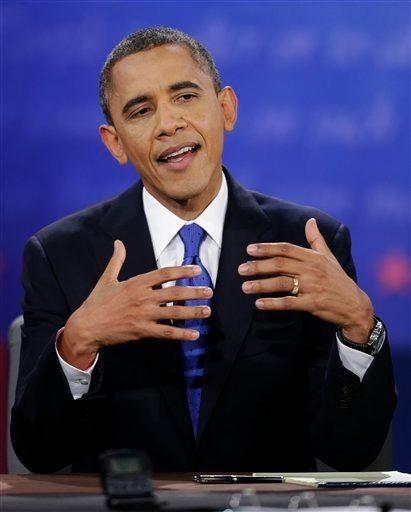 President Barack Obama speaks during the third presidential