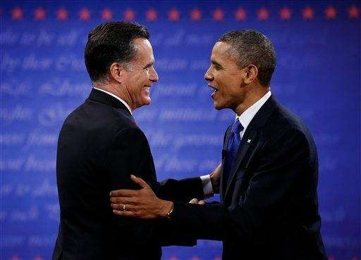 President Barack Obama, right, and Republican presidential nominee