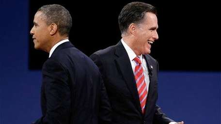 President Barack Obama and Republican presidential nominee Mitt