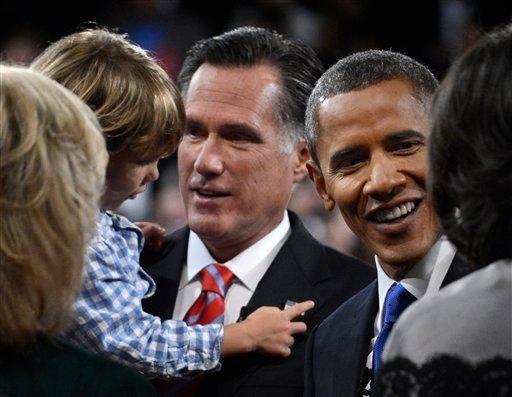 President Barack Obama and Republican presidential nominee Mitt