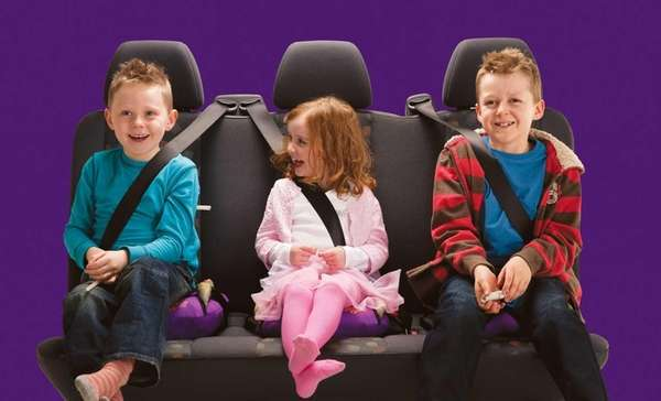 BubbleBum is a portable, inflatable booster seat. It
