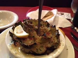 Stuffed artichoke at Sergio's restaurant in Massapequa. (Oct.