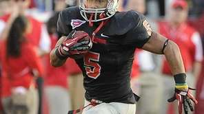 Stony Brook's Miguel Maysonet runs a 75-yard kick-off