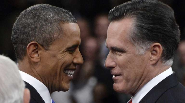 Republican presidential candidate Mitt Romney (R) and U.S.