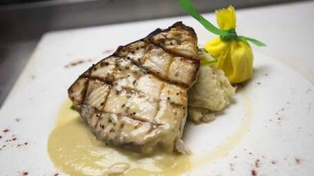Main Catch's grilled swordfish is finished in a