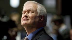 NHL Players' Association executive director Donald Fehr reacts