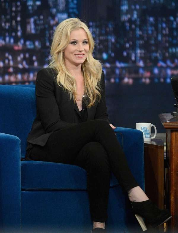 Actress Christina Applegate on quot;Late Night With Jimmy