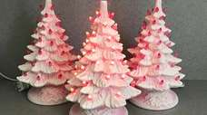 Ceramic trees aren't just for Christmas. Valentine's Day