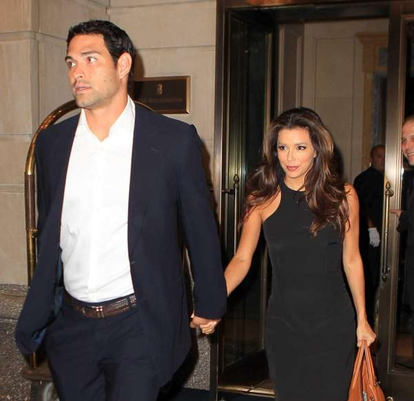 Eva Longoria and Mark Sanchez arrive at the