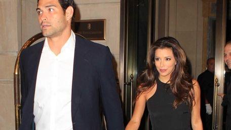 Eva Longoria and Mark Sanchez arrive at the