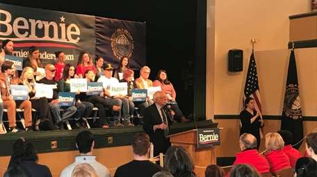 Bernie Sanders during an campaign event in Derry,