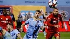 New York City FC's Valentin Castellanos and Toronto