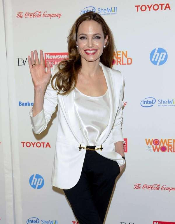 Angelina Jolie attends the Women in the World