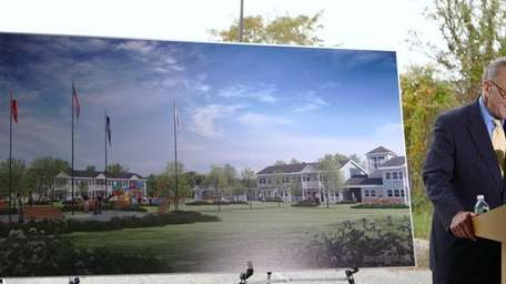Senator Charles Schumer speaks during a press conference