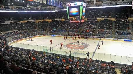 Fans watch the New York Islanders lose to