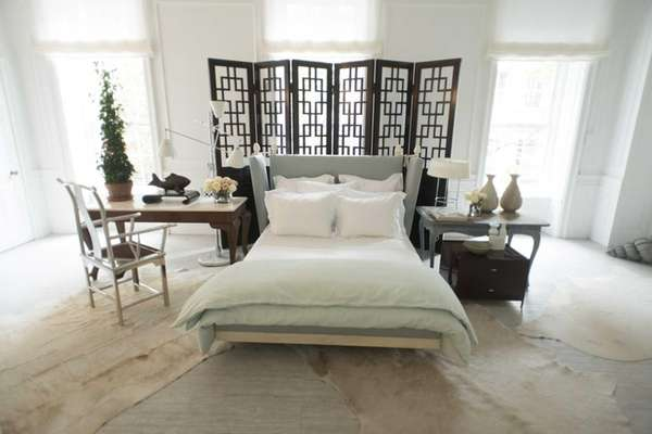 "The Swedish-inspired ""Winter White"" room in the Holiday"