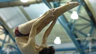 John Montoni of Levittown-East Meadow springs from the