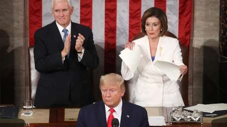 House Speaker Rep. Nancy Pelosi rips up pages