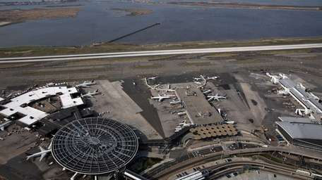 An aerial view of Kennedy Airport. (April 15,