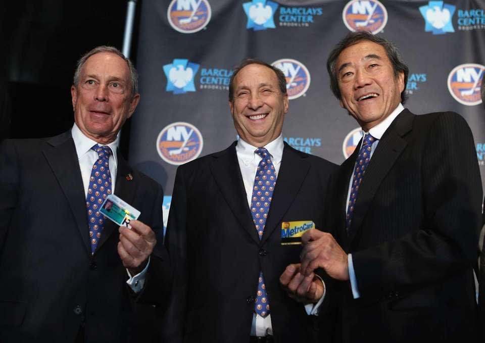 New York City Mayor Michael Bloomberg, Barclays Center