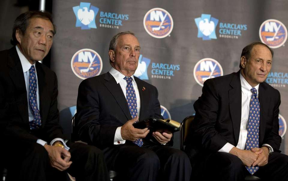 Islanders owner Charles Wang, New York City mayor