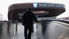 A view outside the Barclays Center on the