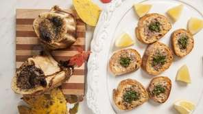 Beef marrow crostini with gremolata. (Oct. 10, 2012)