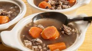Oxtail and barley soup. (Oct. 10, 2012)