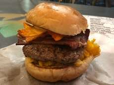 The mac 'n cheese and barbecued potato chip-stuffed