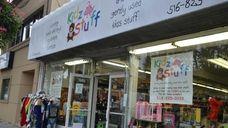 Kidz Stuff, a children's consignment shop, is located