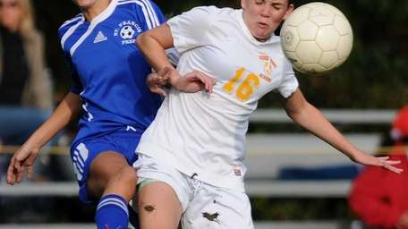 Sacred Heart's Kerri Bradley, right, and St. Francis'
