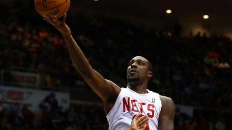 Andray Blatche #0 of the Brooklyn Nets goes