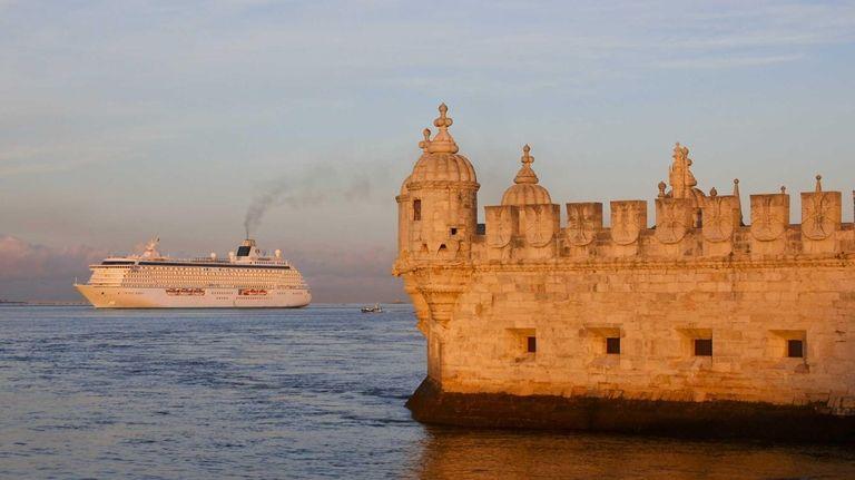 Crystal Cruises' Crystal Serenity in Lisbon.