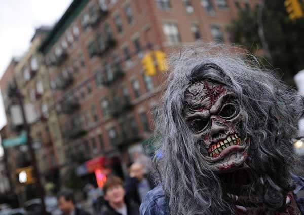 New York Halloween parade participants, October 31, 2011.