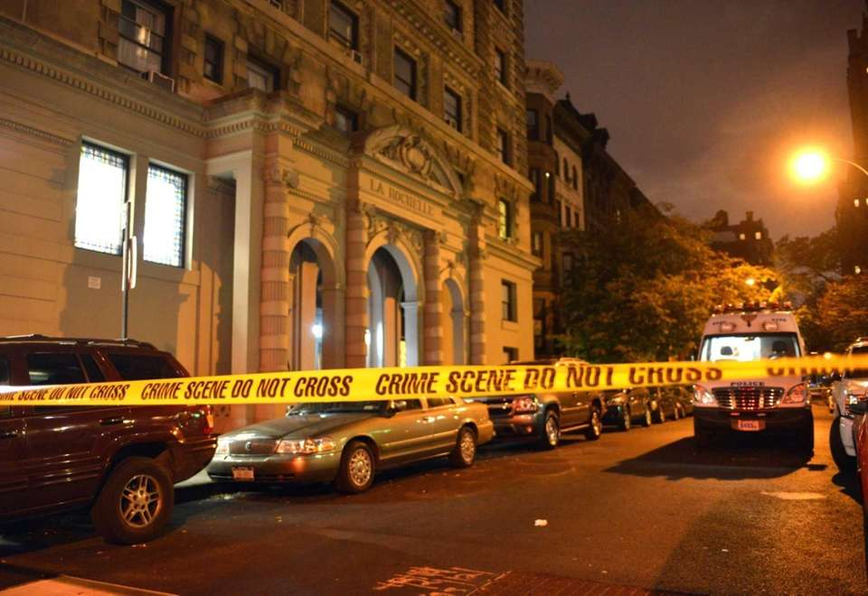 Members of the NYPD respond to the scene