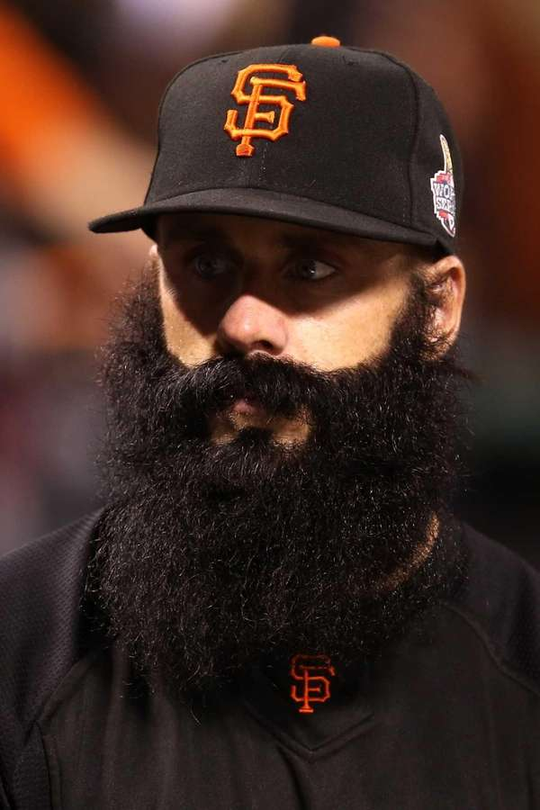 Brian Wilson of the San Francisco Giants looks