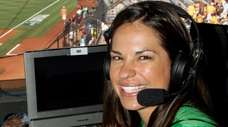 Jessica Mendoza in the ESPN broadcast booth at