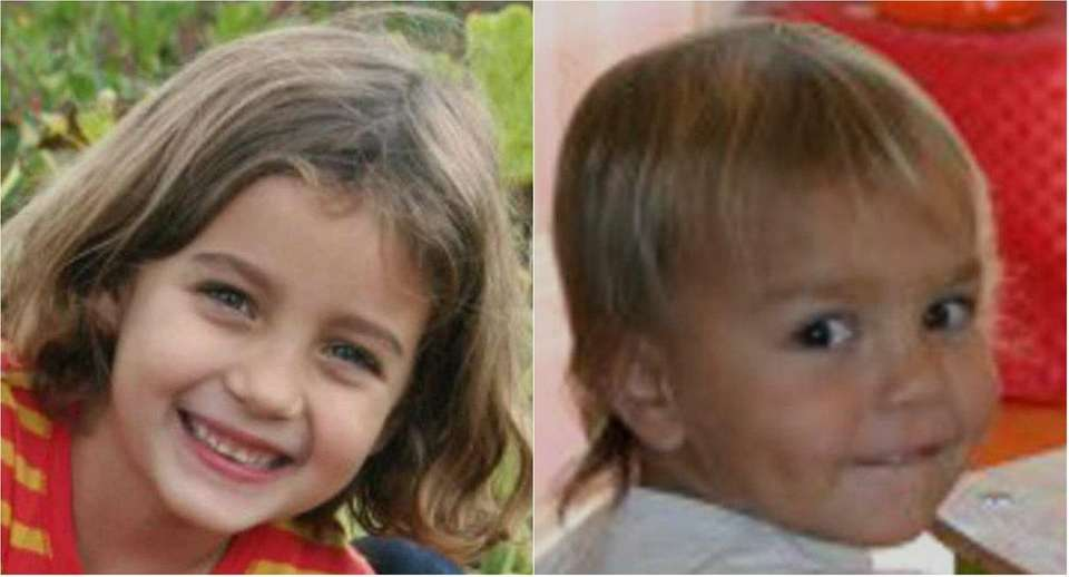 Lucia Krim, 6, and Leo Krim, 2, were