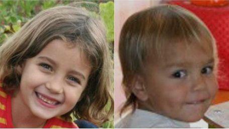 Lucia Krim, 6, and Leo Krim, 2, were