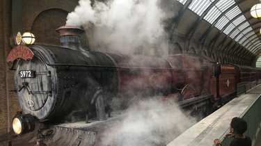The Hogwarts Express, which connects Diagon Alley and