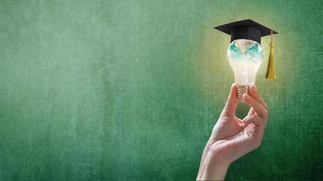 Innovative learning, creative educational study concept for graduation