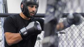 UFC fighter Costa Philippou prepares to spar