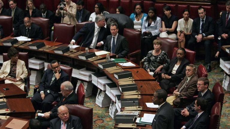 Members of the New York State Senate speak