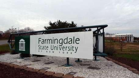 Outside the Farmingdale State College in Farmingdale on