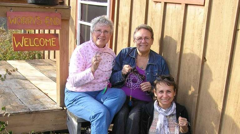 Sisters Ann Omholt, left, of Huntington Station, Sue