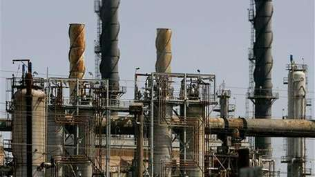 The Shell refinery is seen in Martinez, Calif.